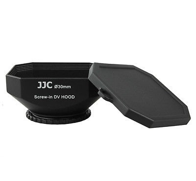jjc dv-30 de 30mm parasol para sony canon digital video...