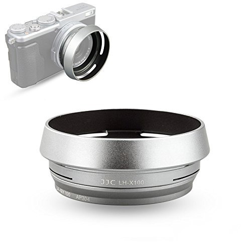 jjc silver lens hood shade for fuji fujifilm finepix x100f,