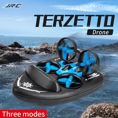 jjrc h36f terzetto 3 en 1 drone barco coche agua modo tierra