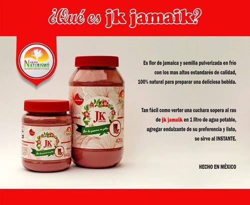 jk jamaik, 27 litros, agua de jamaica al instante, natural