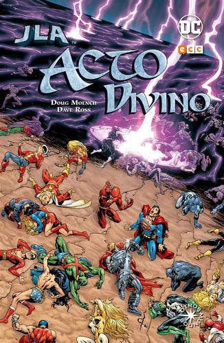 jla acto divino (otros mundos) - dc ecc comics - robot negro