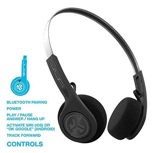 d7bcbcd247a Jlab Audio Rewind Wireless Retro Headphones Negro Bluetooth ...