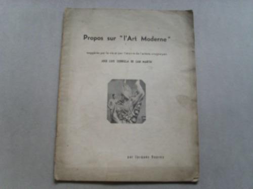 j.l.zorrilla de san martin l art moderne año 1942 en frances