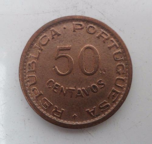 jm* angola 50 centavos 1954