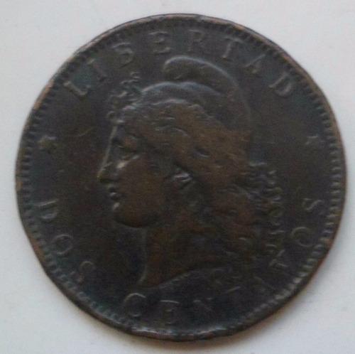jm* argentina 2 centavos 1891 xf 1 sobre 1