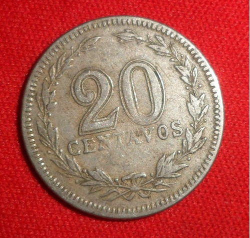 jm * argentina 20 centavos 1921