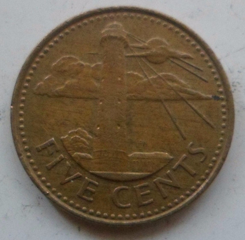 jm* barbados 5 cents 1988