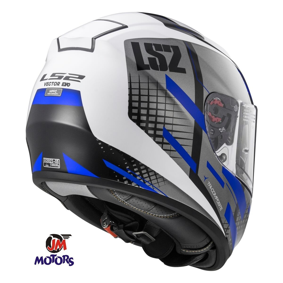 eb8882ded8bd5 jm casco moto integral ls2 ff397 vector titan azul y blanco. Cargando zoom.