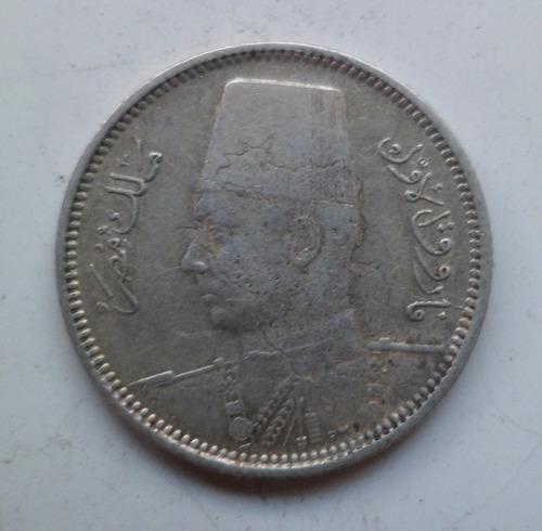 jm* egipto plata 2 piastre 1937