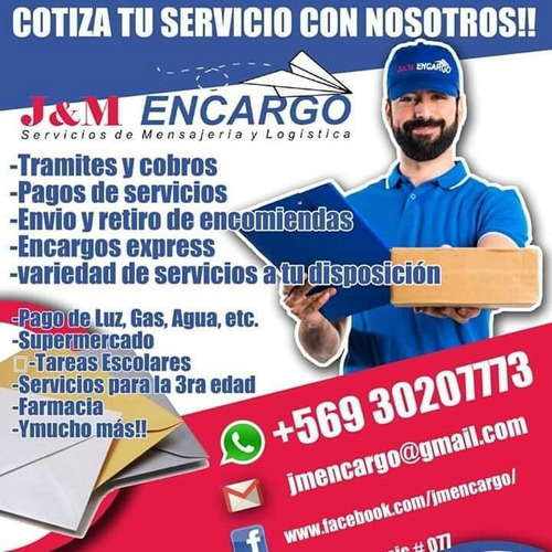 j&m encargo servicios de mensajeria y logística integral