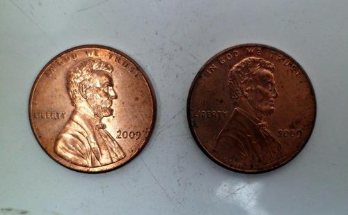 jm* estados unidos centavo 2009 - diseños distintos