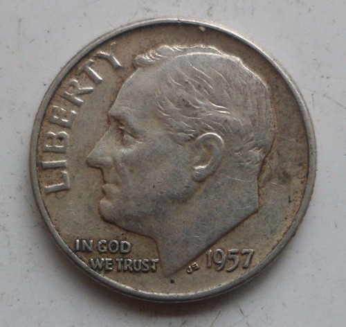 jm* estados unidos plata dime 1957