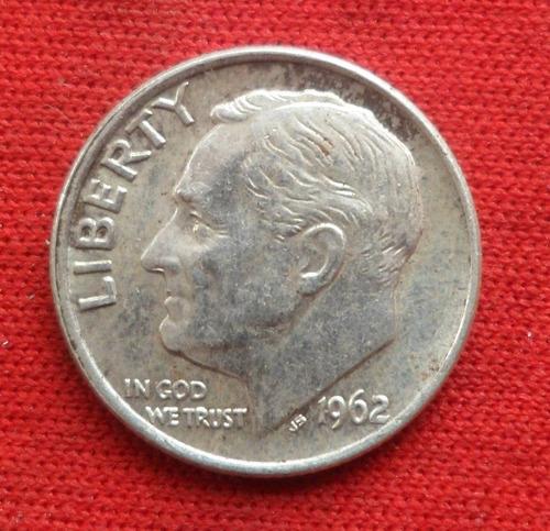 jm* estados unidos plata dime 1962 -