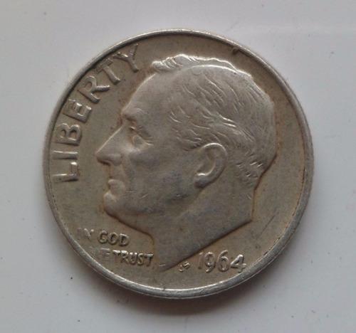 jm* estados unidos plata dime 1964 2