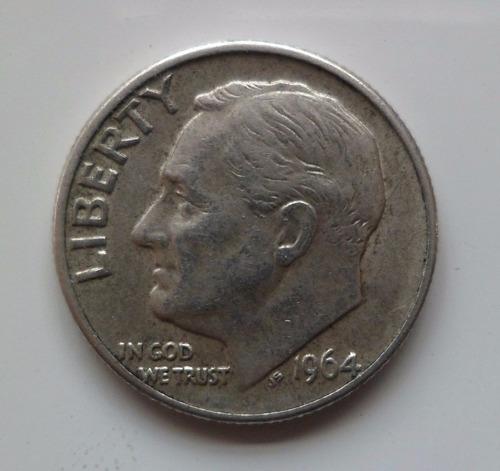jm* estados unidos plata dime 1964