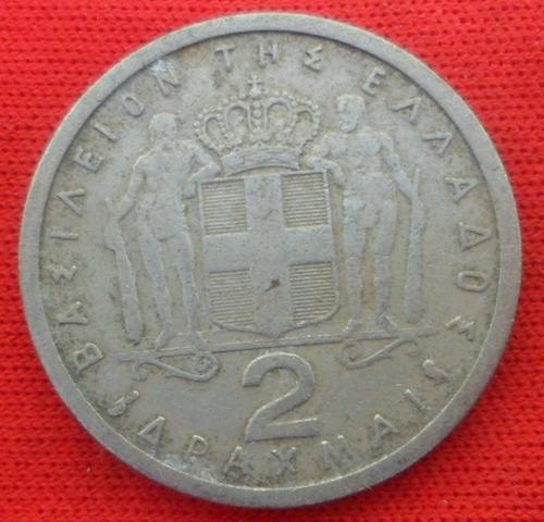 jm* grecia 2 dracmas 1962