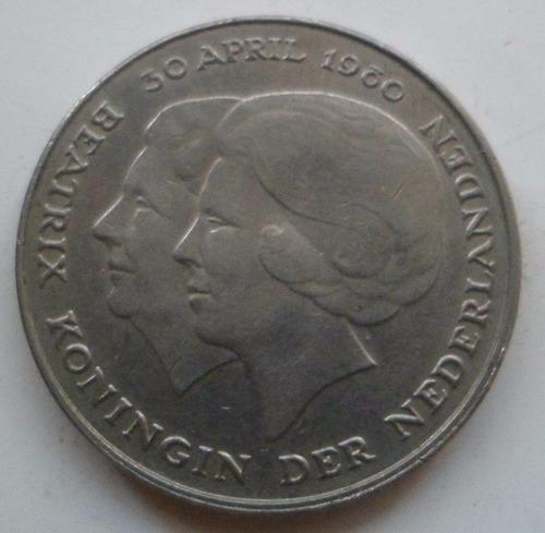 jm* holanda 2 1/2 gulden 1980 - conmemorativa