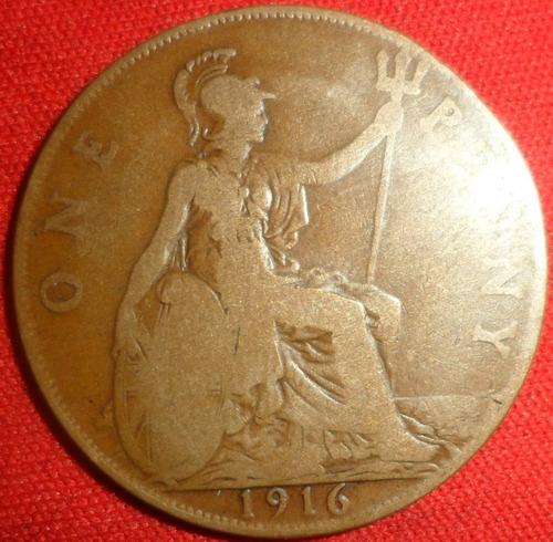 jm* inglaterra 1 penny 1908
