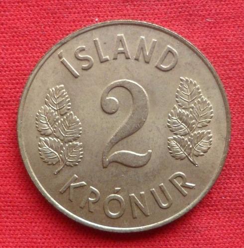 jm* islandia 2 coronas 1963 - 28 mm - unc