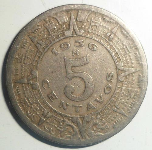 jm* mexico 5 centavos 1936