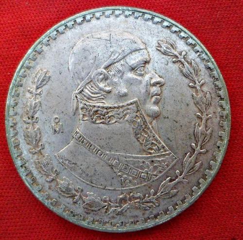 jm* mexico plata baja 1 peso 1960