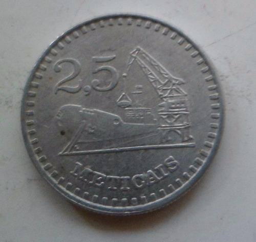 jm* mozambique 25 meticas 1988