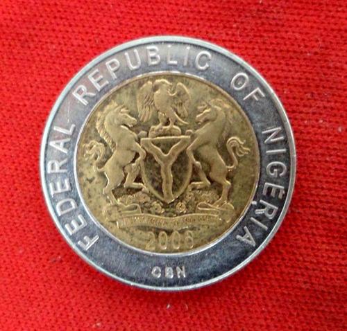 jm* nigeria 1 naira 2006 - bimetalica