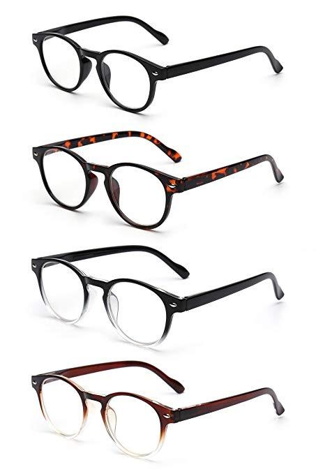 9234445ce2 Jm Paquete De 4 Resorte De La Bisagra Gafas De Lectura Gafas ...