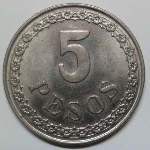 jm* paraguay 5 pesos 1939 - unc