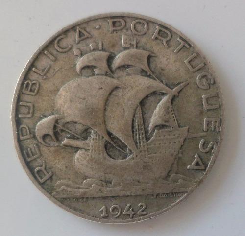 jm* portugal plata 2 1/2 escudos 1942