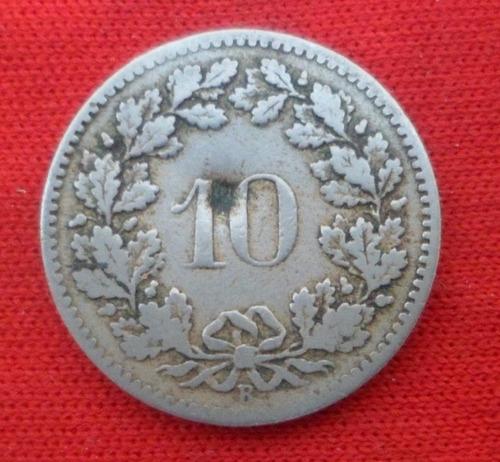 jm* suiza 10 rappen 1885