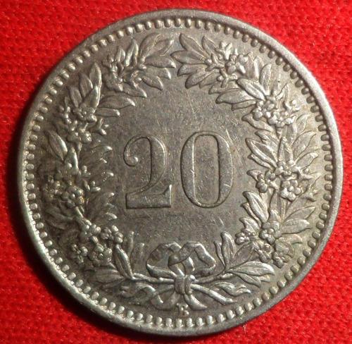 jm* suiza 20 rappen 1959