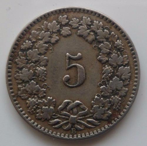jm* suiza 5 rappen 1917