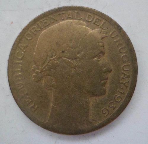 jm* uruguay 10 centesimos 1936 puma chico - f+
