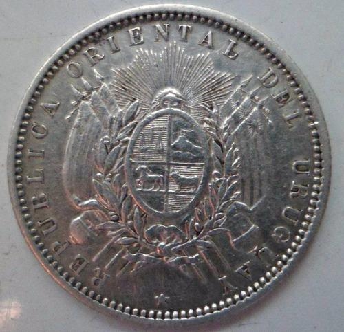 jm* uruguay 20 centesimos 1877 - impecable