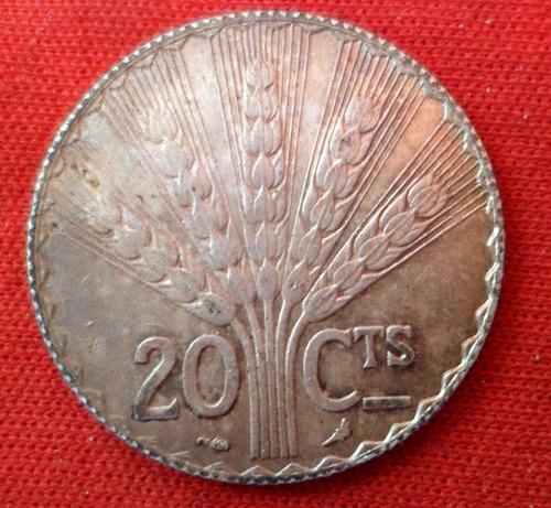 jm* uruguay plata 20 cts 1930 - excelente