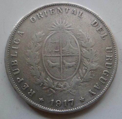 jm* uruguay plata 50 centesimos 1917