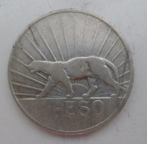 jm* uruguay puma plata 1 peso 1942 - 2