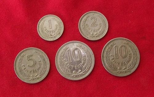jm * uruguay set completo 1953 - 1959 - 5 monedas