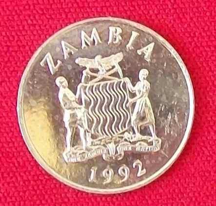 jm * zambia 25 ngwee 1992 unc