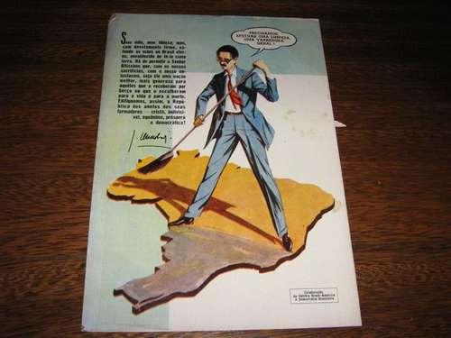 jânio quadros em quadrinhos ebal  agosto de 1960  raro!