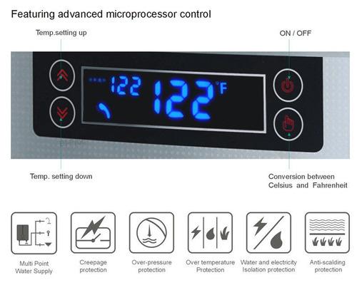 jnod elegante pantalla de visualización de led calentador d