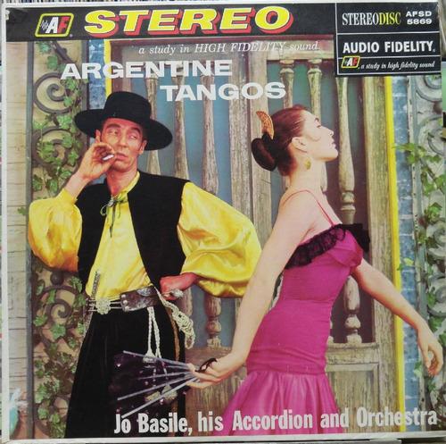 jo basile acordeon orquestra argentine tangos- lp af estéreo