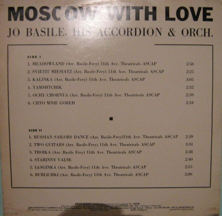 jo basile his accordion & orch - moscow with love - 1982