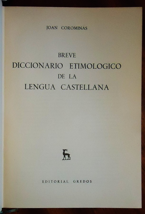 COROMINAS DICCIONARIO ETIMOLOGICO DOWNLOAD
