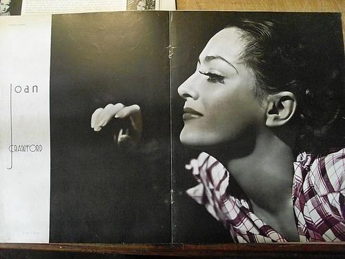 joan crawford clipping 4 paginas hollywood 40's m25