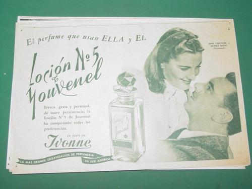 joan fontaine george brent publicidad locion perfume youvene