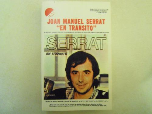 joan manuel serrat casette  el transito