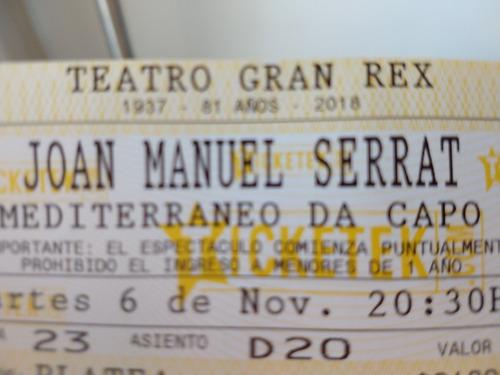 joan manuel serrat entradas 6 noviembre 2018 20:30