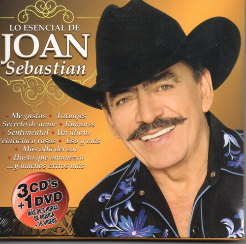 joan sebastian / lo esencial / 3 cds + dvd